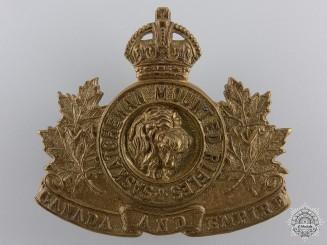 A Saskatchewan Mounted Rifles Cap Badge
