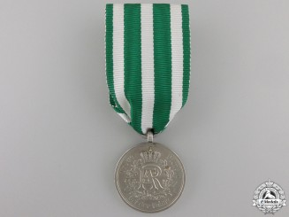 A Saxon Military Long Service Medal; 3rd Class for Nine Years' Service