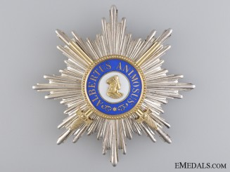 A Saxon Order of Albert; Grand Cross with Swords