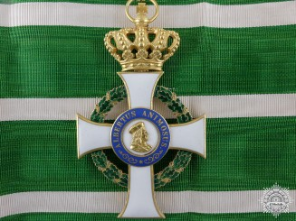 A Saxon Order of Albert; Commander's Cross