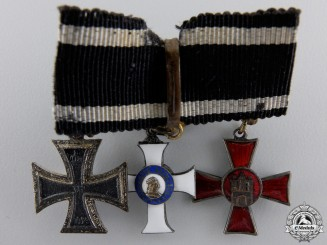 A Saxon Order of Albert Miniature Group by H.TIMM, Berlin