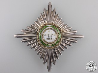 A Saxon Order of Merit; Breast Star First Class by G.A. Scharffenberg