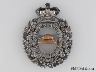 A Scarce 1840's Canadian Rifles Shako Plate