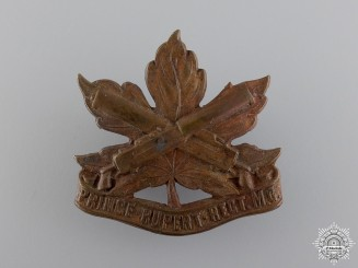 A Scarce Prince Rupert Machine Gun Regiment Cap Badge
