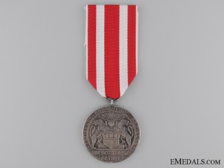 A Scarce Silver Life Saving Medal from Hamburg 1918