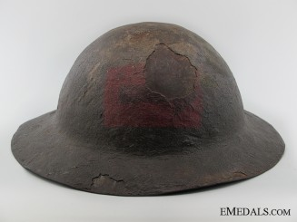 A Scarce WWI 1st Type Canadian Helmet