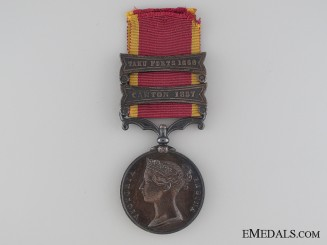 A Second China War Medal 1857-1860 Un-named