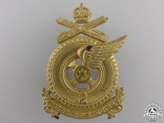 A Second War 2nd Armoured Car Regiment Cap Badge