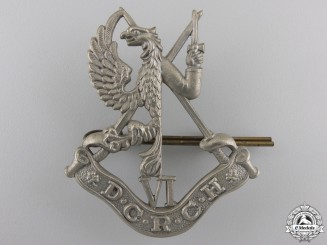 A Second War 6th Duke of Connaught's Royal Canadian Hussars  Cap Badge
