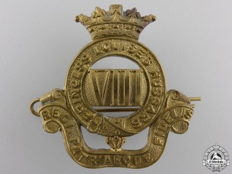 A Second War 8th Princess Louise's New Brunswick Hussars Cap Badge