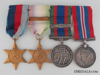 A Second War Royal Canadian Naval Service Medal Group