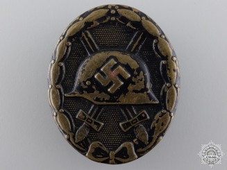 A Second War Black Grade Wound Badge by August Menze