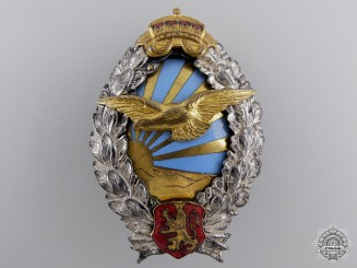 A Second War Bulgarian Pilot's Badge; Type II