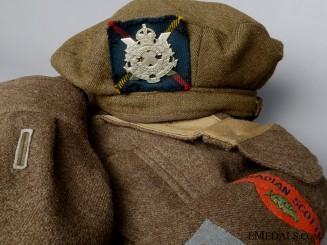 A Second War Canadian Scottish Battledress Blouse & Beret