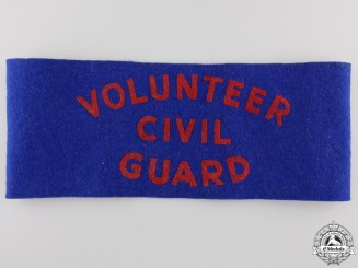 A Second War Canadian Home Defence Volunteer Civil Guard Armband