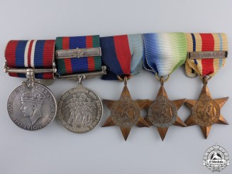 A Second War Canadian North Africa Naval Service Medal Group