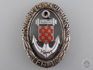 A Second War Croatian Naval Badge; Type II