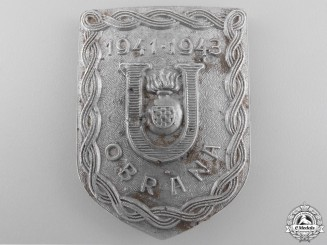A Second War Croatian Ustasha Defense Badge