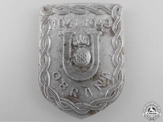 A Second War Croatian Ustasha Defense Badge