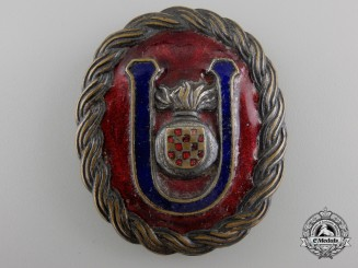 A Second War Croatian Ustasha Officer Belt Buckle