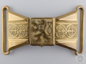 A Second War Czechoslovakian Officer's Dress Buckle