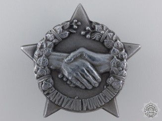 A Second War Czechoslovakian Partisan Helper Badge in Silver