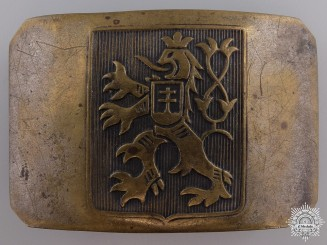 A Second War Czech Legion Belt Buckle