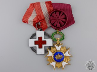 A Second War Danish-Belgium Red Cross Pair