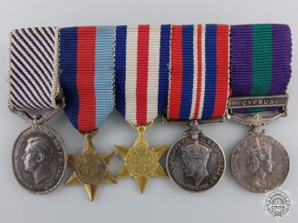 United Kingdom. A Distinguished Flying Medal Miniature Group, c.1945
