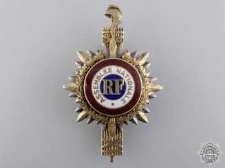 A Second War French National Assembly Badge