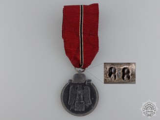 A Second War German 1941/42 East Medal; Marked