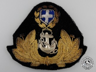 A Second War Greek Royal Hellenic Officer's Cap Badge