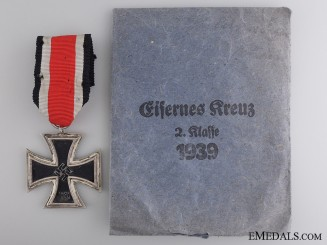 A Second War Iron Cross 2nd Class 1939 with Packet