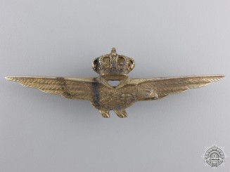 A Second War Italian Fascist Pilot's Badge