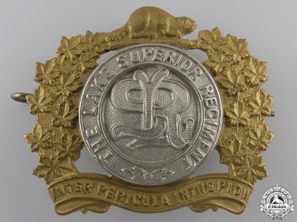 A Second War Lake Superior Regiment Cap Badge