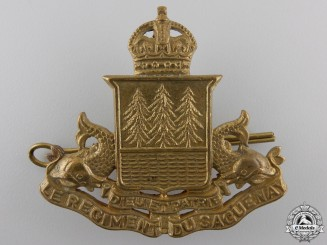 A Second War Le Régiment de Saguenay Cap Badge