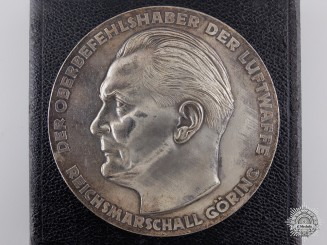 A Second War Luftwaffe Achievement Award with Case