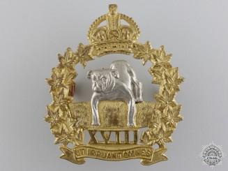 A Second War Manitoba Mounted Rifles Officer Cap Badge