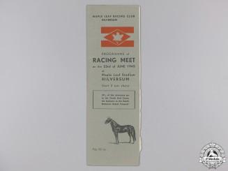 A Second War Maple Leaf Racing Club Hilversum Programme 1945
