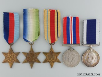 A Second War Medal Group to the Destroyer HMS Lewes