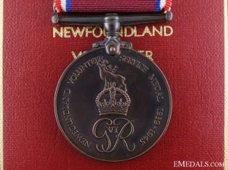 A Second War Newfoundland Volunteer Service Medal