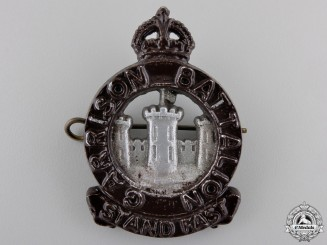 Canada. A Second War Officer's Garrison Battalion Cap Badge