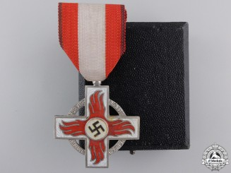 A Second War Period Fire Brigade Cross; 2nd Class