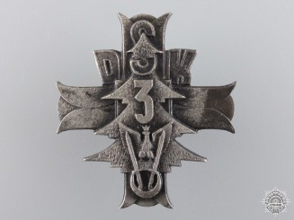 A Second War Polish 3rd Carpathian Rifle Div. Badge