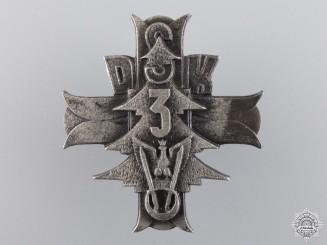 A Second War Polish 3rd Carpathian Rifle Div. Badge