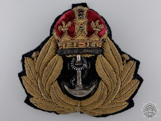 A Second War Royal Navy Officer's Cap Badge  consignment 14