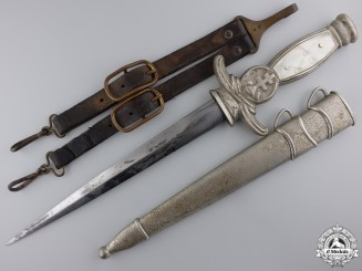 A Second War Slovakian Army Officer's Dagger with Hanger