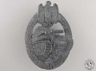A Second War Tank Badge; Silver Grade