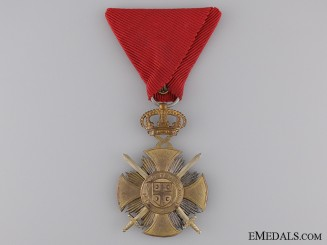 A Serbian Military Order of Kara-George; Gold Grade