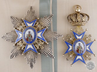 A Serbian Order of St. Sava; Grand Cross Set, 1915-18